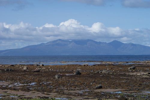 photo of the Isle of Arran from mainland