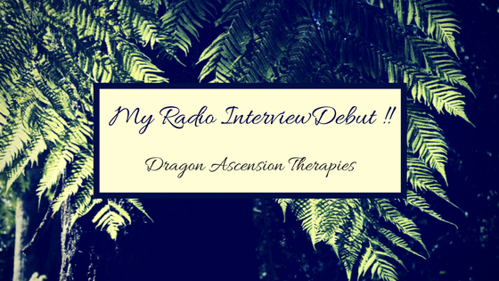 Graphic for radio interview debut blog post