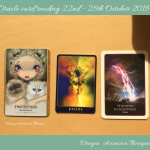 Photo of oracle card reading 22-28 Oct 2018