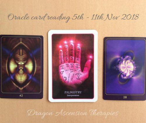 Oracle card reading 5th -11th Nov 2018