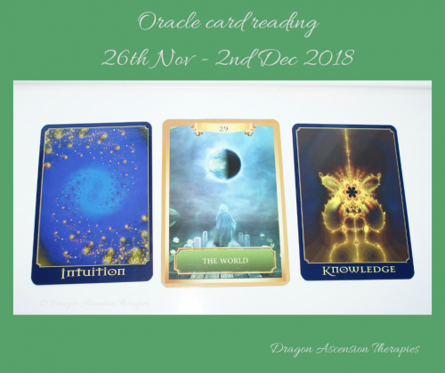 Photo of the oracle card reading for 26th Nov - 2nd Dec 2018