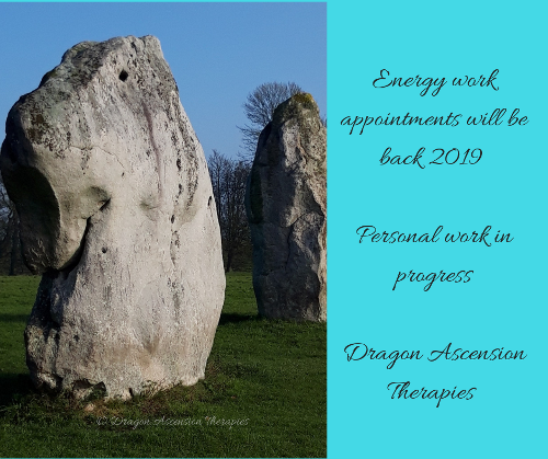 All energy work available bookings will start from Jan 2019