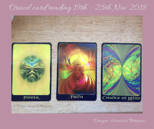 Photo of oracle card reading for 19-25 November 2018