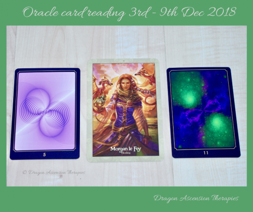 Photo of Oracle card reading 3-9 December 2018