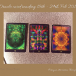 Photograph of the oracle card reading for 18th - 24th Feb 2019