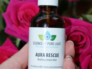 Photo of 50ml bottle of Aura Rescue Aura-spray