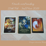 Photograph of the 3 card oracle reading for 25th Feb - 3rd March 2019