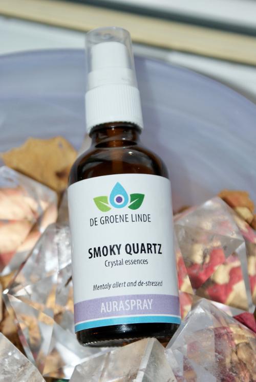 Photo of the Smokey Quartz vibrational aura spray available for purchase