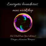 Graphic for energetic boundaries mini workshop on 22nd June 2019