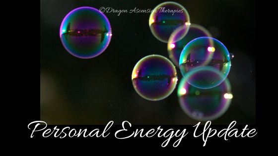 Blog and video with an update on my personal energy and the changes they are bringing