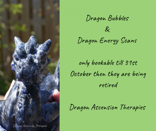 banner advising end date to book Dragon Bubbles and Dragon Scans