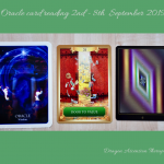 photo of the 3 card spread for oracle cards reading 2nd to 8t September 2019
