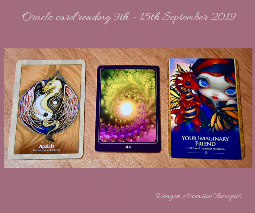 photo of the 3 card spread for 9th to 15th September 2019