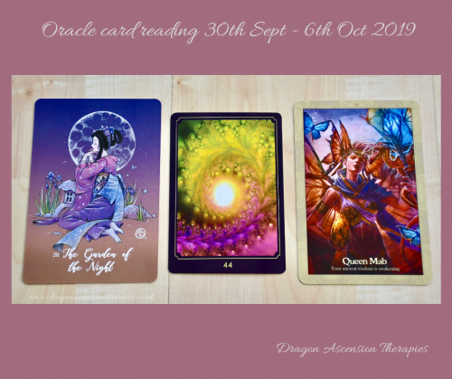 photo of 3 card reading for 30th September to 6th October 2019