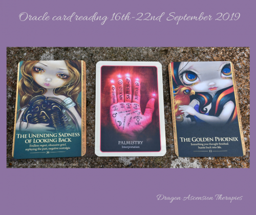 photo o the 3 card spread for 16th to 22nd september 2019