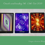 photo of 3 card spread for my reading week commencing 7th October 2019