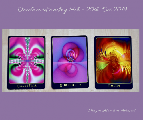 photo of 3 card spread for 14th to 20th October 2019