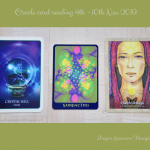 photo of 3 cards used for the oracle reading 4th to 10th November 2019