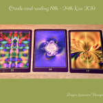 photo of the 3 oracles cards used in the oracle card reading for week commencing 18th Nov 2019