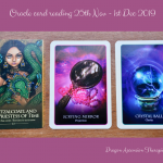 photo of the 3 cards dealt for the oracle card reading for 25th November to 1st December 2019
