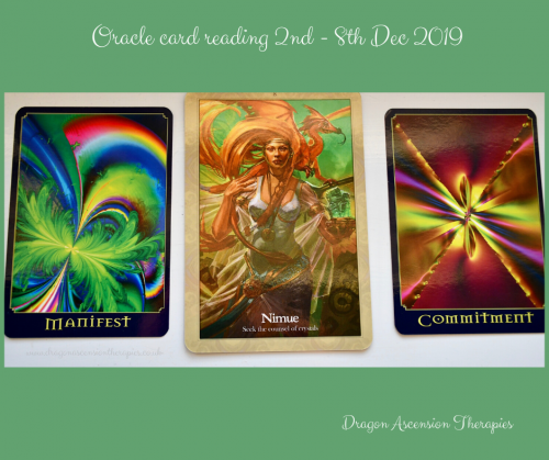 photo of 3 card spread for 2nd to 8th December 2019
