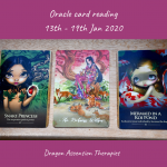 photo of the 3 cards pulled for the reading 13th to 19th January 2020