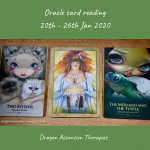 photo of 3 card spread using of the oracle reading 20t to 26th January 2020