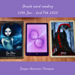 photo of 3 cards drawn for the oracle reading 27th January to 2nd February 2020