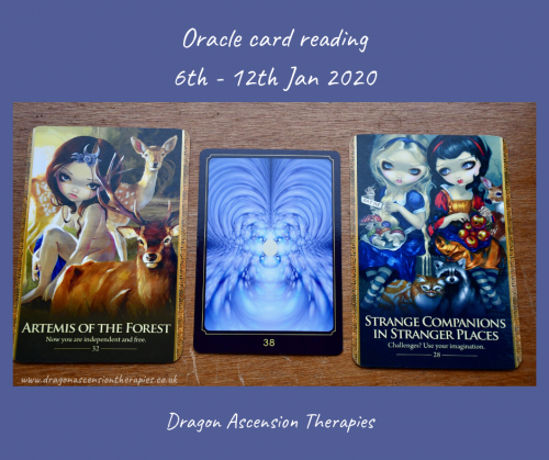 photo of 3 cards drawn for oracle card reading for th 6th to the 12th of January 2020