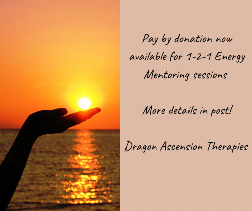 blog regarding payment by donation for 1-2-1 Energy Mentoring sessions