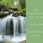 Banner photo for new 7 day Energy Clearing course running 17th to 23rd February 2020