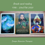 photo of 3 cards drawn for the oracle card reading 17th to 23rd February 2020