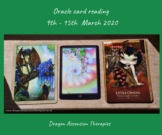 photo of 3 cards drawn from weekly card reading
