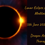 Banner for the full moon and lunar eclipse meditation 5th June 2020