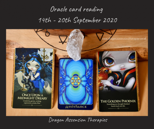 photo of the cards drawn for the weekly reading 14th to 20th September 2020