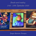 photo of the cards drawn for the weekly reading 21st to 27th September 2020