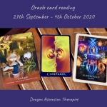 photos of cards pulled for weekly reading 28th September to 4th October 2020