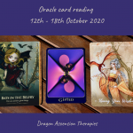 photo of the three cards picked for the weekly reading 12th to 18th October 2020
