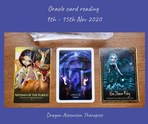 cards pulled for the oracle reading 9th to 15th November 2020