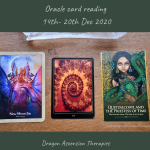 photo of the three cards pulled for 14th to 20th December 2020