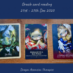 Photo of the cards drawn for the weekly reading 21st to 27th December 2020