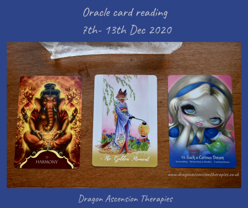 Cards for the oracle reading 7th to 13th December 2020