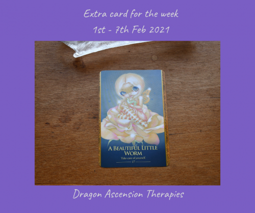 extra card drawn for 1st to 7th February 2021