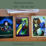 photo of three cards drawn for 11th to 17th January 2021