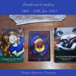 photo of the three cards pulled for 18th to 24th January 2021