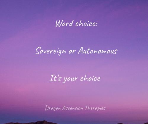 Blog on sovereign versus autonomous