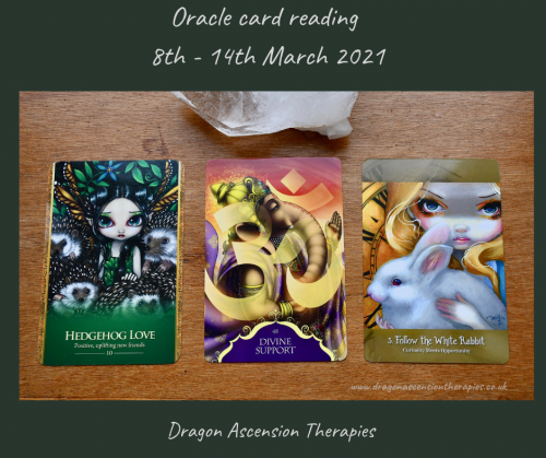 three cards drawn for 8th to 14th March 2021