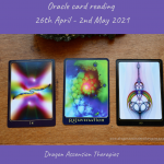 photo of cards drawn for 26th April to 2nd May 2021
