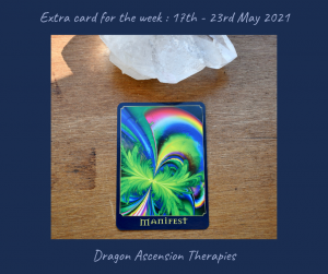 Extra card for 17th - 23rd May
