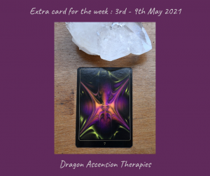 extra card for 3rd to 9th May 2021